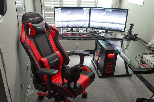 Dx Racer Chair On A Table Red